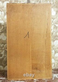 Drapery scroll leaves wood carving panel Antique french architectural salvage