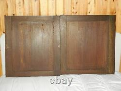 Fabulous lot of 2 French Antique Carved Oak Wood Door Panel, Gothic pattern