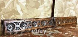 Fan sun wood carving pediment panel trim Antique french architectural salvage