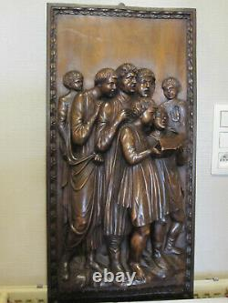 Fantastic Carved Wooden Panel/ 19 Th Century