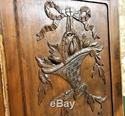 Farmhouse country carving panel Antique french romantic architectural salvage
