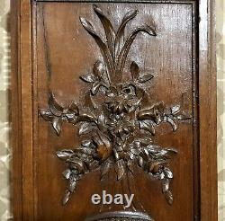 Flower bow ribbon decorative carving panel Antique french architectural salvage