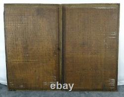 French Antique A Pair of Deep Carved Architectural Oak Wood Panel Gothic 19th 1