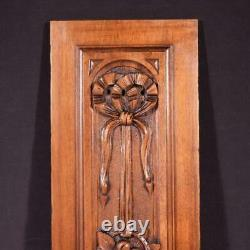 French Antique Architectural Panel Door Solid Walnut Wood Highly Carved Salvage