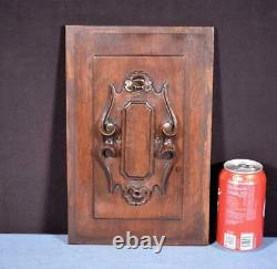 French Antique Architectural Panel Door Solid Walnut Wood Salvage Carved