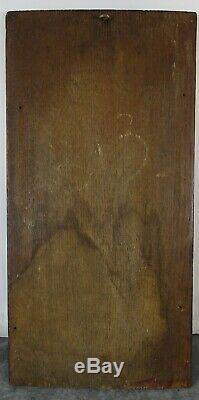 French Antique Carved Oak Wood Gothic Revival Panel Salvage / Fleur de Lys