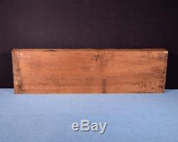 French Antique Deep Carved Architectural Panel Solid Walnut Wood withFace Salvage