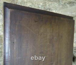 French Antique Deep Carved Architectural Walnut Wood Panel Galant Scene