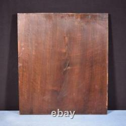 French Antique Gothic Carved Architectural Panel Walnut Wood Salvage 1