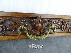 French Antique Large Hand Carved Architectural Salvaged Panel Drawer