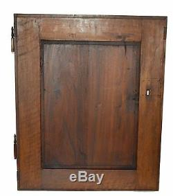 French Antique Renaissance Hand Carved Walnut Wood Salvage Door Panel, Mascaron