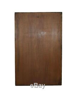French Art Nouveau Romantic Woman Lady Hand Carved Wood Wall Panel Door