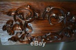 French Carved Wood Wall Panel Door of Middle Ages of Knight Helmet Shield
