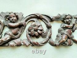 French Shabby Chic Cherub Angel Gilt wood Carving Louis Style Chateau