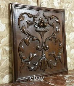 Fruit scroll leaves wood carving panel Antique french architectural salvage