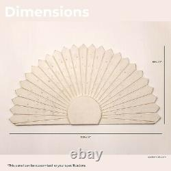 Hand Carved Wooden Art Deco Wall Art Sun Bed Headboard Large Panel