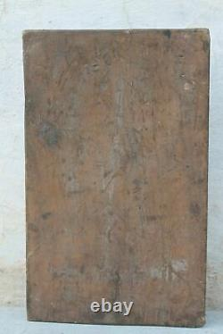 Handcrafted Wall Panel Figure Wood Carvings Rare Unique Vintage Indian Home Déco