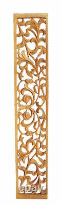 Jaliwork Feature Wall Panel Hand Carved in Pinewood PN883