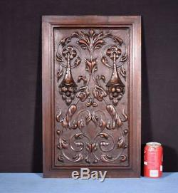 Large French Antique Carved Architectural Panel Door Solid Walnut Wood Salvage