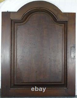 Large French Antique Carved Solid Walnut Wood Door Panel Middle Ages Tavern 19th