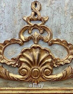 Large Italian Carved Giltwood Boiserie Panel Sculpture
