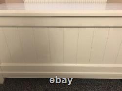 Laura Ashley White Panelled Solid Wood Ottoman Blanket Box. Immaculate Cond
