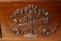 Lovely Pair of French Antique Carved Wooden Panels French Decorative Doors