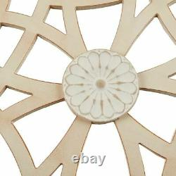 Luxury Brown & Beige Damask Wood Panel Carved Wall Panel Art 15x37