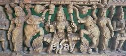 Magnificent Vintage Ceremonial Wall Panel Sculpture hand carved wood Bali Art