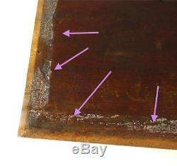 N759 ANTIQUE VINTAGE CHINESE GILT WOOD LACQUERED CARVED WOODEN PANEL b