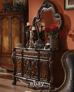 NEW Traditional Cherry Brown 5 pieces Bedroom Suite with Queen Panel Bed Set IAAD