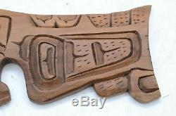 Northwest Coast First Nations native wood Art carved plaque wall panel Kwakiutl