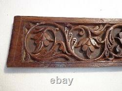Old Vintage Collectible Art Decorative Wooden Carving Wall Hanging Panel Pc 1