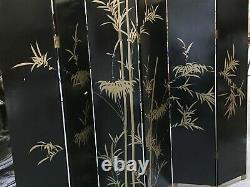 Oriental furniture screen 6'x6 panels gold lacquer screen