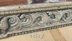 Original Antique Carved Wood Panel Originally from India Ganesh Carving