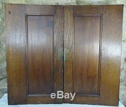 Pair Antique French Carved Wood Architectural Door Panel Gothic Chimera Walnut