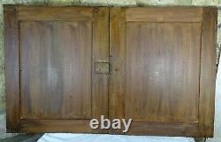 Pair Antique French Solid Oak Carved Wood Large Doors/Panels Hunting Style/Deers