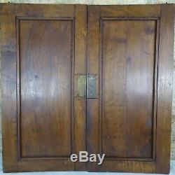 Pair Antique French Solid Walnut Carved Wood Door/Panel Basket of fruit