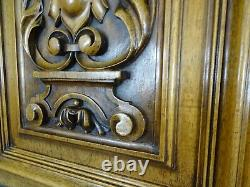 Pair Antique French Solid Walnut Carved Wood Door/Panel Régence