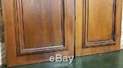 Pair bouquet leaf fruit wood carving panel Antique french architectural salvage