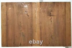 Pair fruit scroll leaf walnut carving panel Antique french architectural salvage