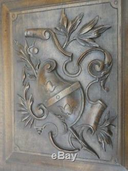 Pair of Antique French Wood of walnut door panel carved