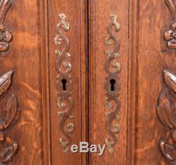 Pair of Vintage French Louis XV Carved Panels/Doors in Oak Wood