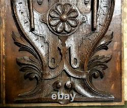 Pair scroll griffin gargoyle carving panel antique french architectural salvage