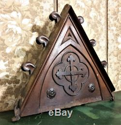 Religious rose tudor wood carving panel Antique french architectural salvage