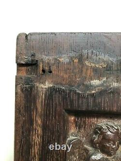 SALE! Stunning Gothic annunciation Carved door panel in wood + Evangelist (1)
