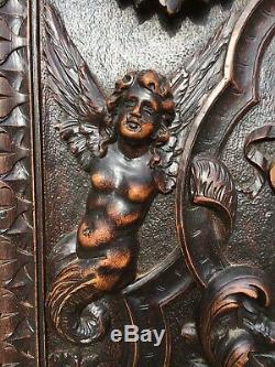 SALE! Stunning Renaissance Louis XVI carved panel with cherubs, angels, Putti's