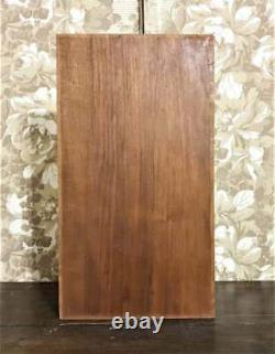 Scroll leaf drapery wood carving panel Antique french architectural salvage