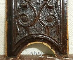 Scroll leaves green man wood carving panel Antique french architectural salvage