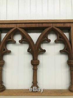 Stunning Carved Gothic panel in oak